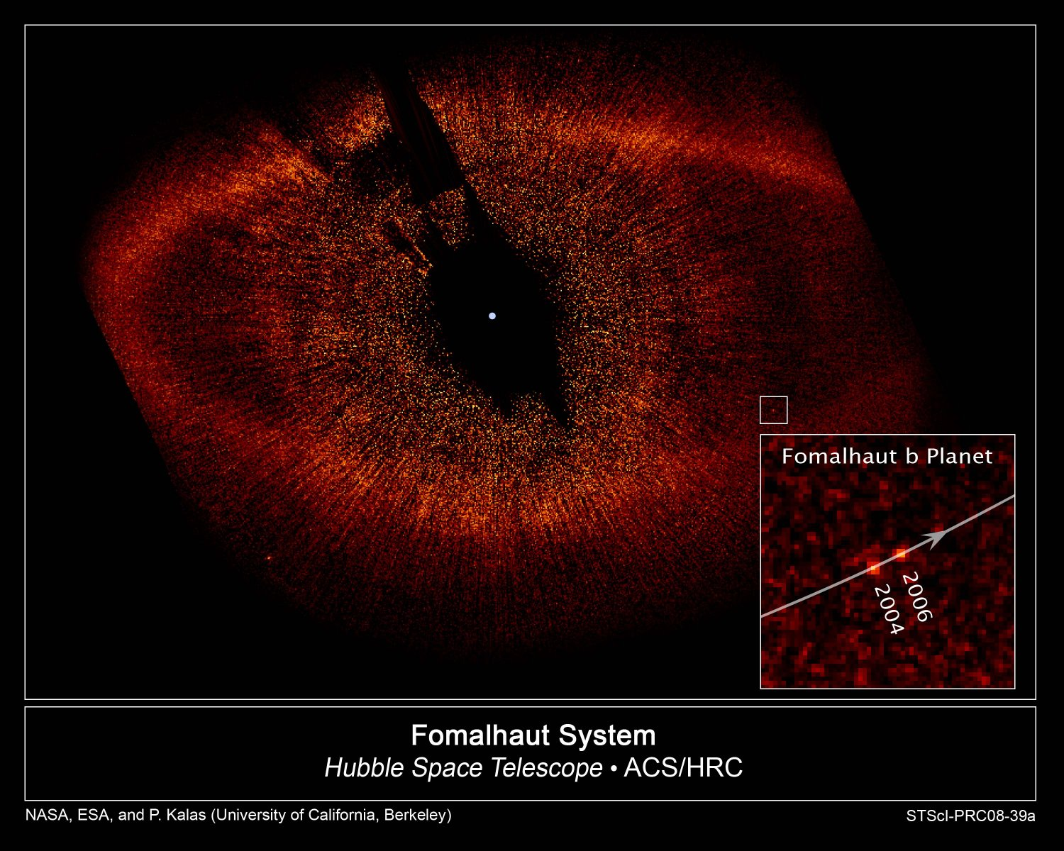 Previously claimed picture, image of the exoplanet Fomalhaut b