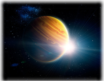 What is a hot jupiter? artists impression